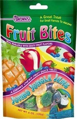 Cheap Fruit Bites Jumbo Jungle Jems Pet Bird Treat, 6-Ounce (B0002DILAQ)