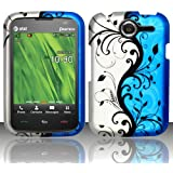 For Pantech Renue P6030 (AT&T) Rubberized Design Cover - Blue Vines
