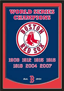 Dynasty Banner Of Boston Red Sox With Team Color Double Matting-Framed Awesome &... by Art and More, Davenport, IA