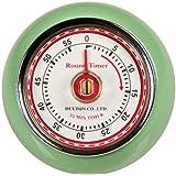 Fox Run Retro Kitchen Timer with Magnet, Mint Green