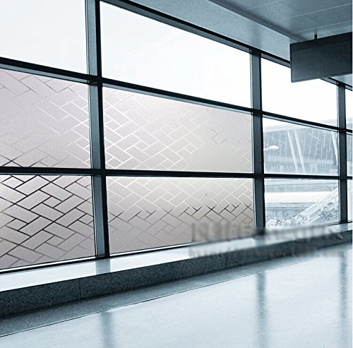 Coavas decorative window film self static adhesive bathroom window privacy f - Decorative windows for bathrooms ...