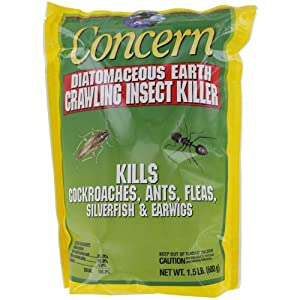 Woodstream 970242 Concern Diatomaceous Earth De Crawling Insect Killer, 1.5-Pound