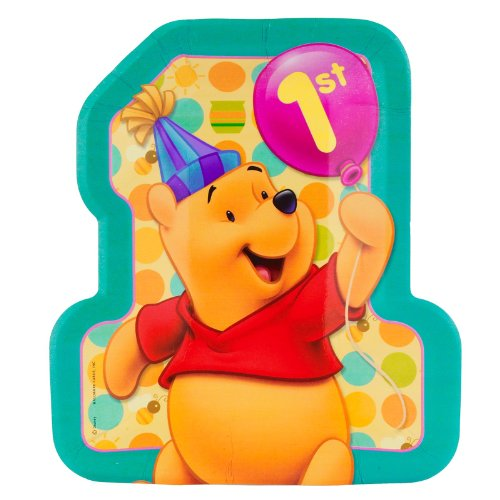 Pooh'S 1St Birthday Lunch Plates, 8Ct