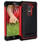 AERO ARMOR Protective Case for LG G2 - Red (NOT COMPATIBLE WITH VERIZON WIRELESS)