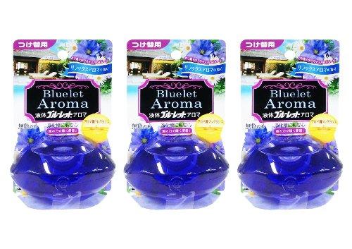 【まとめ買い】液体ブルーレットおくだけアロマ トイレタンク芳香洗浄剤 詰め替え用 リラックスアロマの香り 70ml×3個
