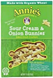Annies Homegrown Bunnies Baked Snack Crackers, Sour Cream and Onion, 7.5-Ounce Boxes (Pack of 12)