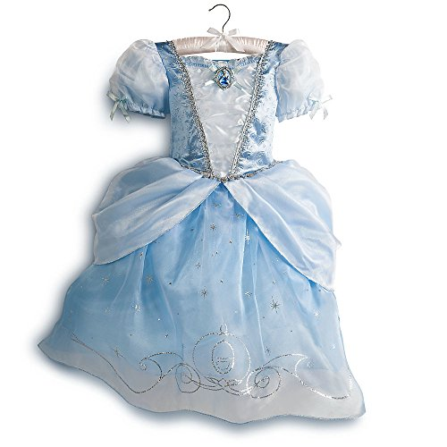 Disney Store Deluxe Cinderella Costume Dress Ball Gown Size S Small 5 - 6 5T