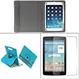 Gadget Decor (TM) PU LEATHER Rotating 360° Flip Case Cover With Stand For Samsung Galaxy Tab 4 T231 Tablet - Light...