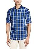 Locomotive Men's Casual Shirt (15110001456180_LMSH010364_Medium_Blue)