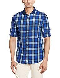 Locomotive Men's Casual Shirt (15110001456182_LMSH010364_X-Large_Blue)