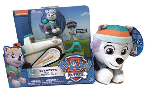 Paw patrol everest pup pals plush amp everest s rescue snowmobile gift