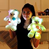 Wewill Brand Adorable LED Light up Glow Teddy Bear, Teddy Bear Little Stuffed Toys, Stuffed Plush Toy with Colorful Flash LED Light , Stuffed Animal Toy Gifts for Children's Day 15 Inch (Pink)
