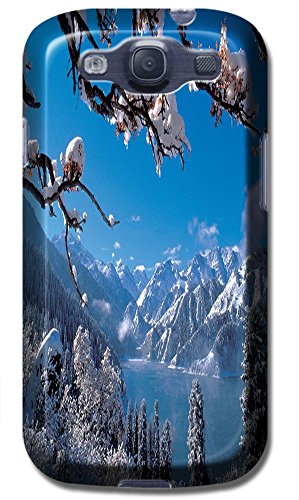 Phones Accessories Beautiful White Snow Tree Vellege Design Cases For Samsung Galaxy S3 I9300 # 5
