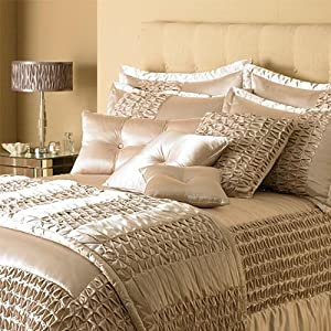 bedroom couture monte carlo satin filled cushion champagne 45 x 45