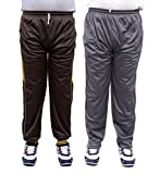 NATIONWIDE GARMENTS SOILD BROWN AND GREY PACK OF 2 TRACK PANTS (SIZE-L)