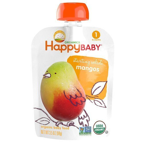 Happy Baby Organic Food: Stage 1 /Starting Solids, Fresh Mango 3.5 oz (99 g)(pack of 3) (Mango 99 compare prices)