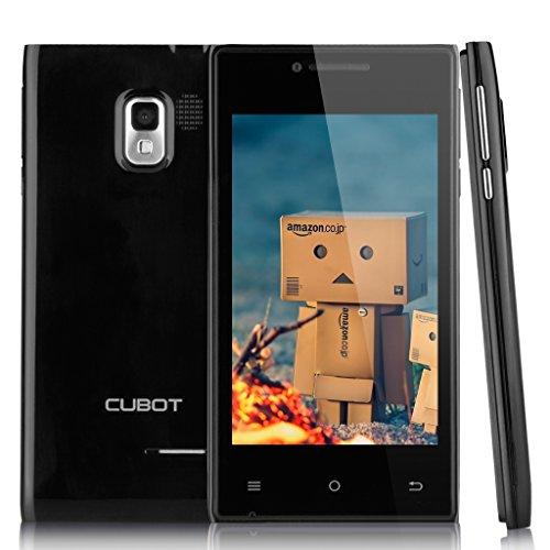 Schwarz Cubot Android 4.4 3G Smartphone Dual Core Dual Handy ohne Vertrag 4,0 Zoll Screen 4G ROM WIFI 1.2GHz 2 Kameras Simlockfrei