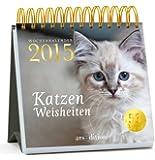 Katzenweisheiten 2015: Postkartenkalender