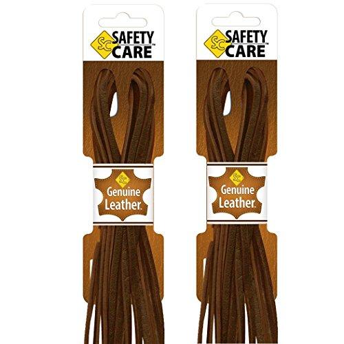 safetycare Heavy Duty Stivali in pelle e lacci per scarpe, ideale per saldatura e stivali da lavoro, Barca, Scarpe, Guanti da baseball, arti e mestieri, (Dark Brown - 2 pairs), 183 cm