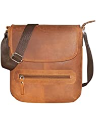 Style98 Tan Hunter Leather Sling Bag For Men,Boys,Girls & Women - B01M4PIO0Y