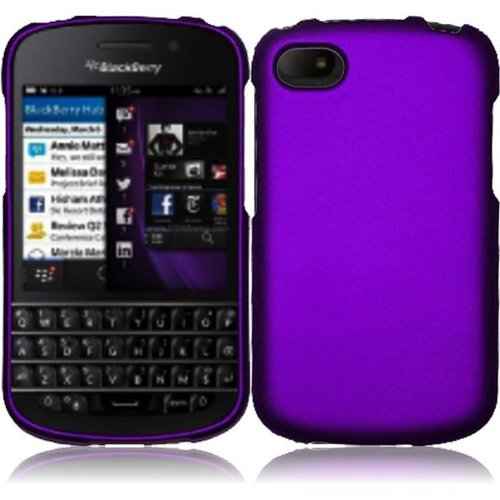 Cell Accessories For Less (Tm) For Blackberry Q10 Rubberized Cover Case - Purple // Free Shipping By Thetargetbuys