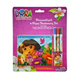 Dora The Explorer By Nickelodeon 5 Piece Personalized Study Kit/stationery Set, School Supplies With