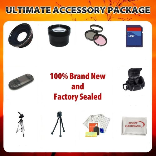 SSE Ultimate 8GB, Lens, Tripod and Carrying Case Accessory Package For Panasonic DMC-FZ40