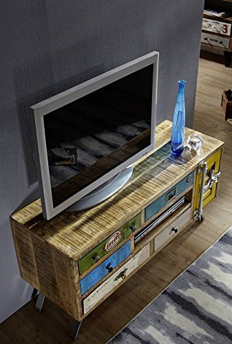 massivm bel mango eisen massiv holz tv board industrial stil massivholz mangoholz m bel massiv. Black Bedroom Furniture Sets. Home Design Ideas