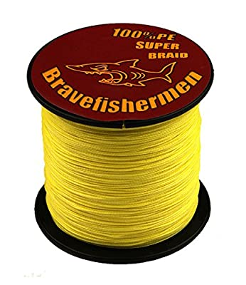 Bravefishermen Super Strong Pe Braided Fishing Line 10LB to100LB Yellow from yu wei