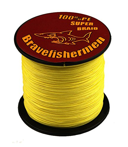 Bravefishermen Super Strong Pe Braided Fishing Line 10LB to100LB Yellow