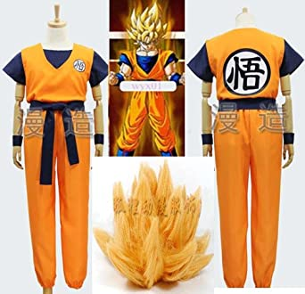 Cos Dragon Ball Z Son GoKu Cosplay Costume Fancy Party Clothing With Wig