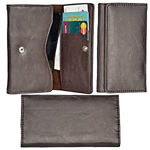 R&A Pu Leather High Quality Wallet Pouch Case Cover With Card Slot & Note Slots,Soft Inner Velvet For Sony Xperia T3