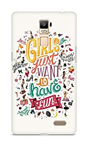 Amez designer printed 3d premium high quality back case cover for Oppo R7 Plus (Crazy Quote Girls just want to have Fun)