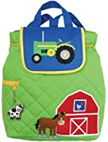Stephen Joseph Boy's Quilted Backpack, Farm, One Size