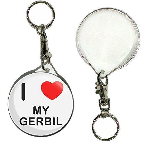 I Love My Gerbil Keyring