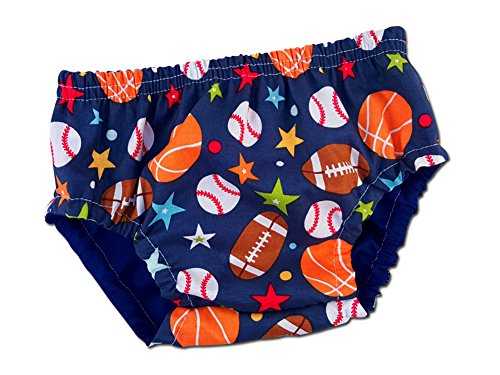 Juxby Kids Baby-Boys Football, Basketball, Baseball Sports Diaper Cover-12m (Football Diaper Cake compare prices)