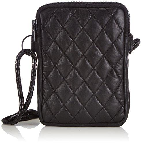 Friis & Company Quilty Leather Rania Small Bag, Borsa shopper donna, Nero (Nero (nero)), 13x18x4 cm (B x H x T)
