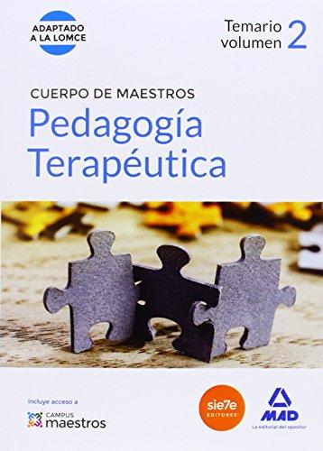 CUERPO DE MAESTROS PEDAGOGIA TERAPEUTICA