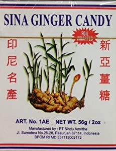 2 x 2oz Sina Ginger Candy Make Easy Ginger Tea