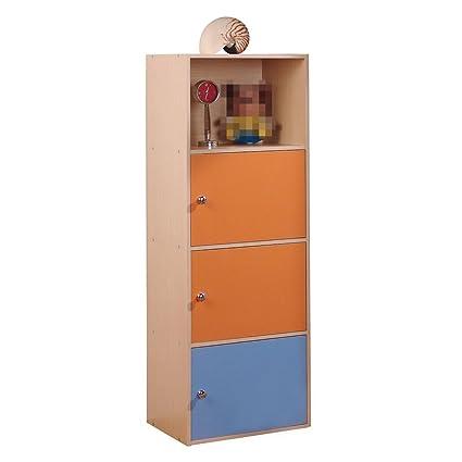 Cuatro pisos de estilo europeo gabinetes de almacenamiento libre combinación de taquillas biblioteca creativa