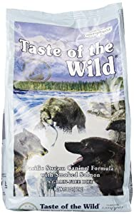 Taste of the Wild Dry Dog Food, Pacific Stream Canine Formula with Smoked Salmon, 5 Pound Bag