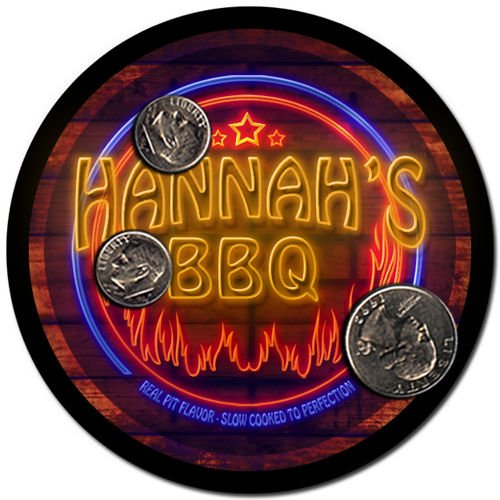Hannah'S Barbeque Drink Coasters - 4 Pack