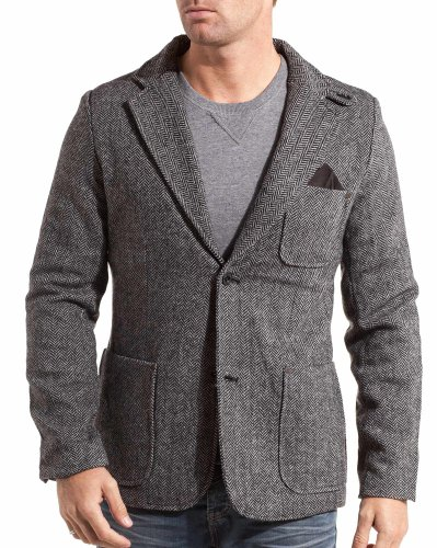 Lenny and loyd - Men's jacket with elbow fashion gray - Color: Grey Size: S