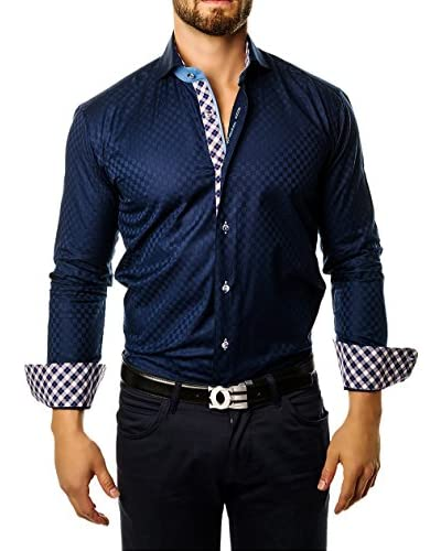 Maceoo Men's Wall Street Square Shirt