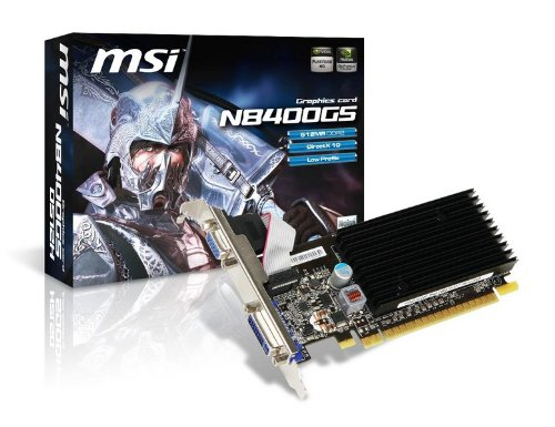 MSI nVidia GeForce 8400GS 512MB Low Profile PCI-Express Video Card