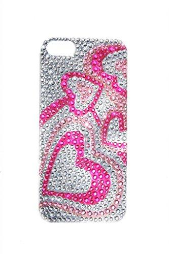 lux-accessori-iphone-5-5s-rosa-fucsia-argento-cuore-di-strass-adesivo-cell-phone-case
