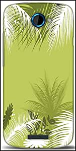 Snoogg Palm Tree With Flower Designer Protective Back Case Cover For HTC One S