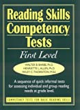 img - for Reading Skills Competency Tests: First Level (J-B Ed: Ready-to-Use Activities) book / textbook / text book