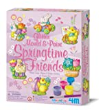 4M Glitter Mold and Paint Springtime Friends Kit