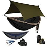 ENO Double Deluxe OneLink Hammock System -Khaki/Black + Guardian SL+Olive Profly